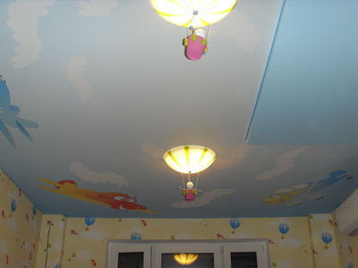 Peindre un grand plafond a l acrylique neuilly sur seine for Peindre un grand plafond